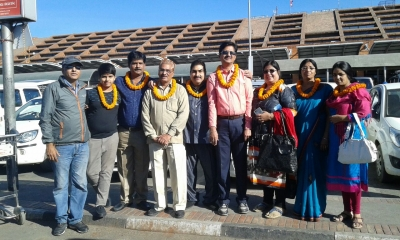 Manish Sharma's Friends and family's Pashupatinath, Manakamana Darshan and Nagarkot Visit
