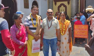 Mr. Joga Rao Nakka's family trip to Muktinath Yatra with Suresh ji