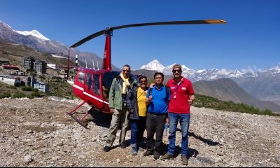 Mr. Ajay K. Sharma's family trip to Muktinath Tour by Helicopter